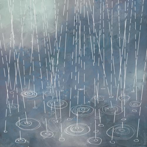 Animasi Hujan Rintik Di